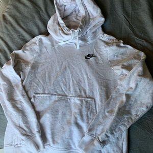 White Confetti Nike Sweatshirt